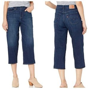 Levi's Classic Wide Leg Cropped Jeans